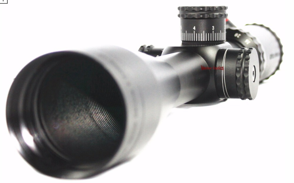 Vector Optics Sentinel Hunting 6 24x50 E Target Shooting Riflescope Illuminated MP Reticle with Scope Side