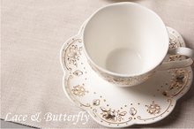 Slap-up Japanese butterfly bone china coffee cup set British ceramic mugs cute coffee cup and saucer set coffee mugs tea cup set