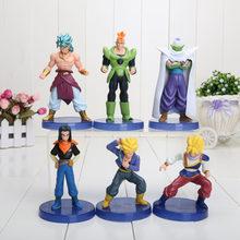 6 pçs/set 12 centímetros anime Dragon Ball Z Kakarotto Son Goku vegeta Super Saiyan Trunks uub Figura de Ação DO PVC brinquedos brinquedo de presente de Natal(China)