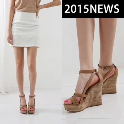 2015 new sexy Hollow out strap Gladiator women shoes platform open toe nude ladies sexy high heels women wedges sandals#UXI27(China (Mainland))