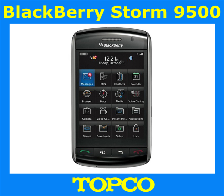 "Original unlocked BlackBerry Storm 9500 GPS 3.0MP 3.2""TouchScreen Valid PIN+IMEI 3G Phone Free Shipping(China (Mainland))"