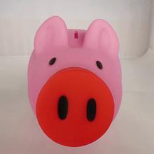 Free Shipping Couple Vinyl Toys Pig Storage Tank Color Cartoon Pig Doll Vinyl Piggy Piggy Bank