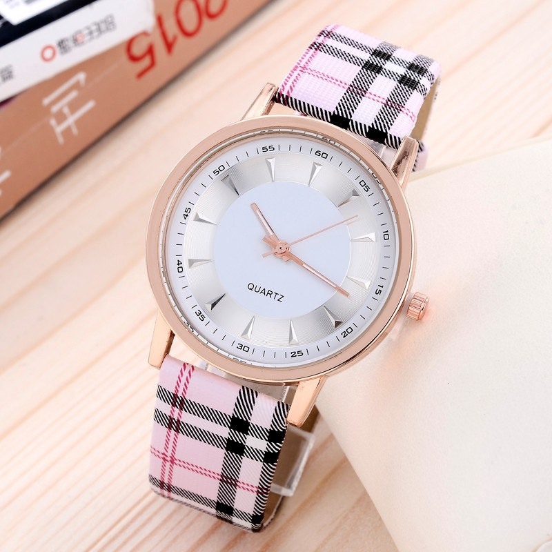 Luxury brand 2015 montre relogio feminino fashion leather quartz watch