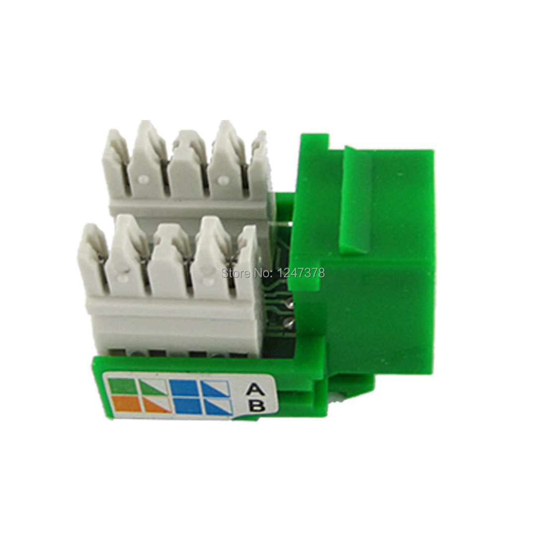 Network Computers Devices Connecting CAT5e Jack Green Discount 50(China (Mainland))