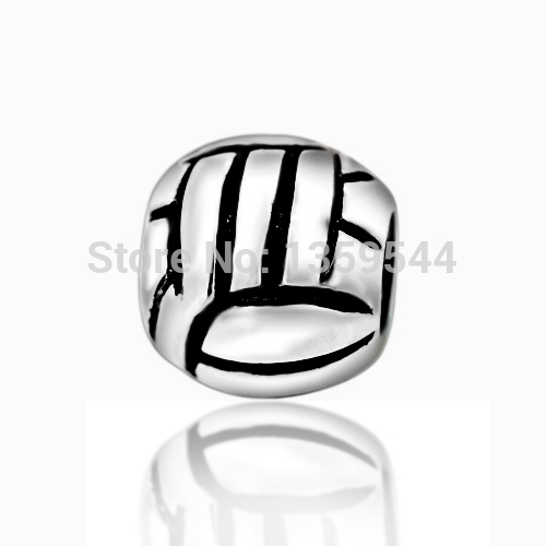 Volleyball Sport 100% 925 Sterling Silver Charm Bead Fits Pandora European Charms Bracelet M(China (Mainland))