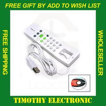 HOT SALE FREE SHIPPING NEW USB Skype Phone handset Skype Telephone White 1PC #BDN404