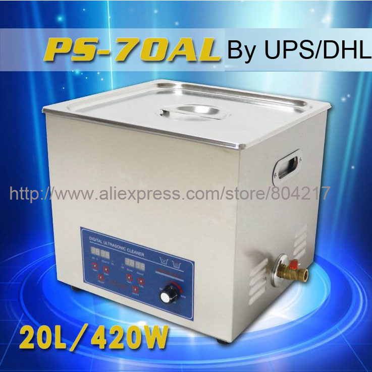 Ultrasonic Cleaner Power adjustment 170-420W Heater&timer 15L 4gallon PS-70AL Cleaning Equipment Stainless Steel Bath Clearner(China (Mainland))