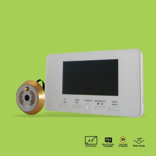 New 4.3 inch LCD Digital Peephole Viewer Door Eye Doorbell Video Color IR Camera 804(China (Mainland))