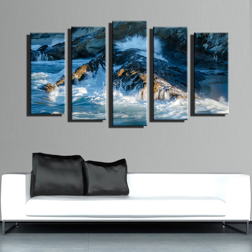 Online buy wholesale river rock landscaping from china for Fallout 4 canvas painting