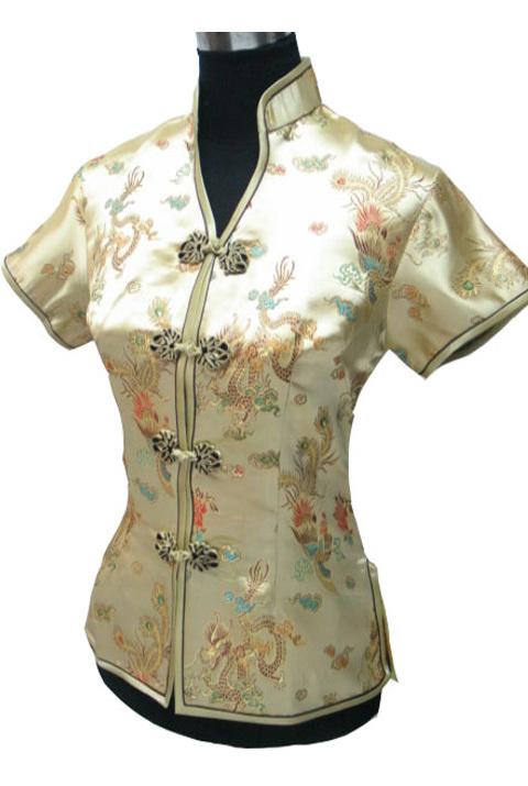 мода Золотой китайский Леди тонкий элегантный