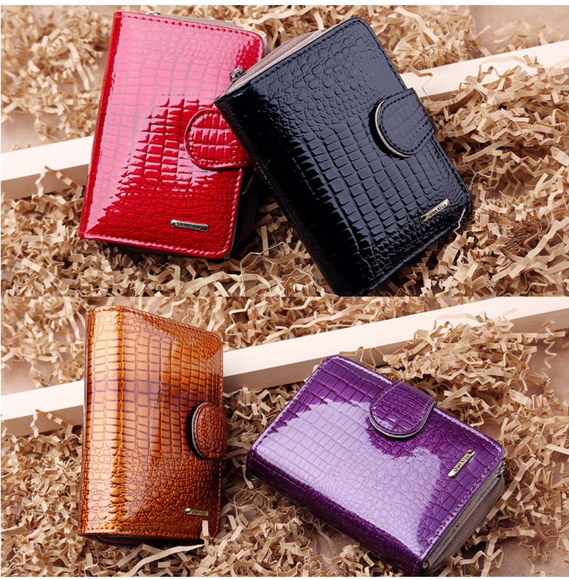 HTB1MenRQFXXXXaNXXXXq6xXFXXXH - Fashion Real Patent Leather Women Short Wallets Small Wallet Coin Pocket Credit Card Wallet Female Purses Money Clip Gold color