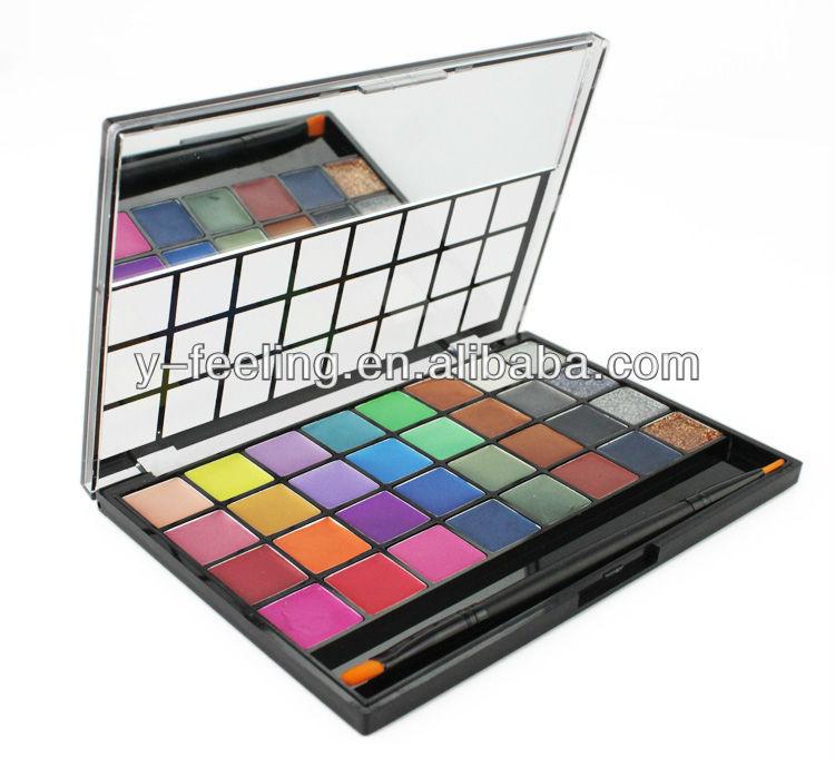 Profeddion 32 cores Shimmer e matte maquiagem Gel sombra paleta de maquiagem Gel creme com escova