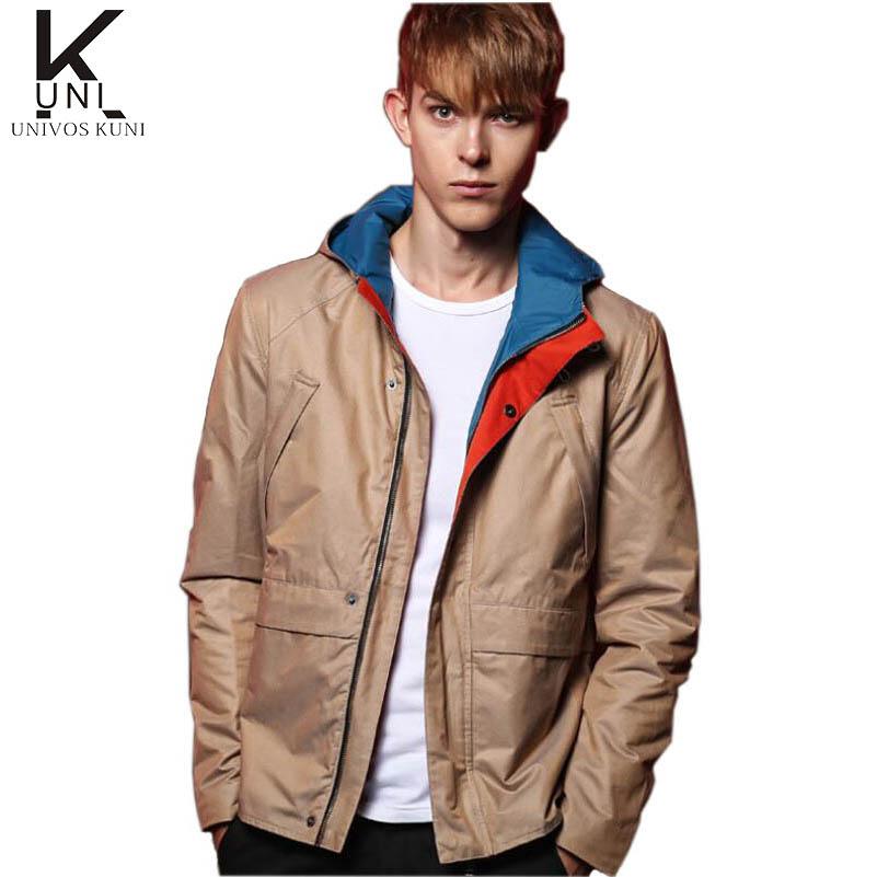2016 Spring Autumn Men Jacket Slim Fit Hooded Coats New Casual Jackets Fashion Jaqueta Masculina Brand Clothing M-XXXL Z2263