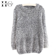8 Solid Colors Casual Loose Soft Women Sweater Fashion Winter Pull Femme O-Neck Full Sleeve Sweaters WZL610(China (Mainland))