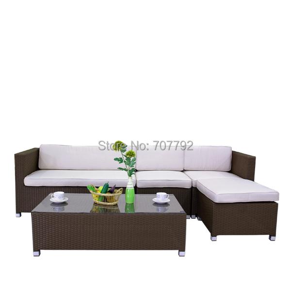 2016 modern style rattan furniture patio terrace sofa Set(China (Mainland))