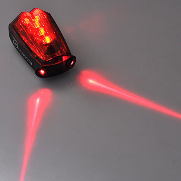 Фара для велосипеда OEM Hotest 5 LED + 11 2 * AA Big tail Bike Light