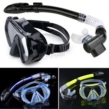 New 2014 Scuba Diving Mask Snorkel Glasses Set Silicone Swimming Pool Equipment 30(China (Mainland))