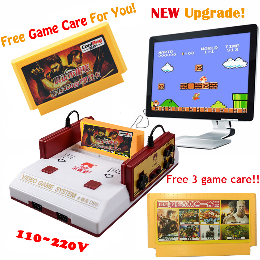 New Subor D99 Video Game Console Classic Family TV video games consoles player with free 400 IN1+ 500 IN1 games cards(China (Mainland))