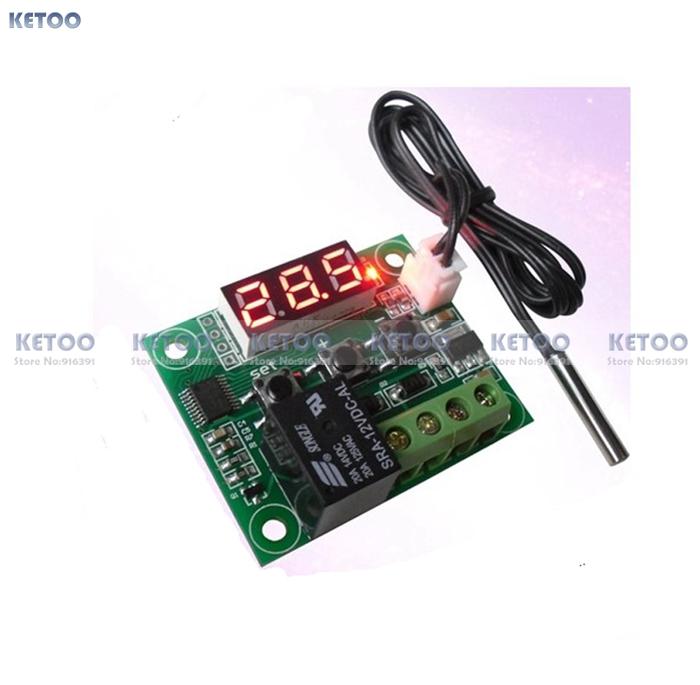 1pcs 50 100 digital temperature controllear thermostat temperature control thermostat switch plate W1209