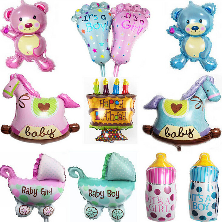 cute baby shower mini balloon birthday party foil decoration balloons toy(China (Mainland))