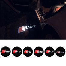 LED Car Door Welcome Light Laser Car Door Shadow led Projector Logo For AUDI A3 A4 A5 A6 A7 A8 R8 Q5 Q7 TT S line(China (Mainland))