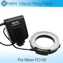 Meike fc100 führte makro ringblitz licht für Canon 450D 500D 550D 600d 650d 700d 1100d 6d 7d 5 dii 60d 50d digitale slr-kamera(China (Mainland))