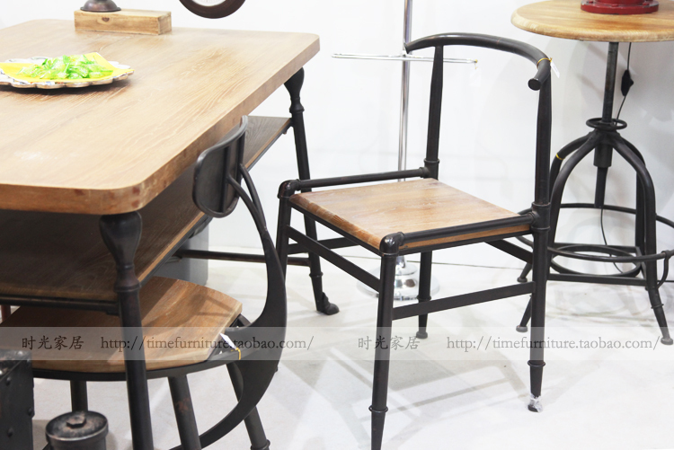 french village loft retro industrial style furniture dining chairs
