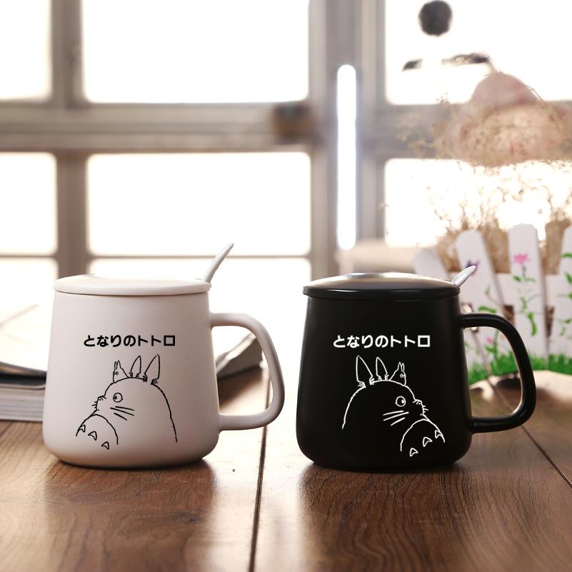 Cute black and white cat Couples Cup Pretty cartoon animals Milk Mug(China (Mainland))