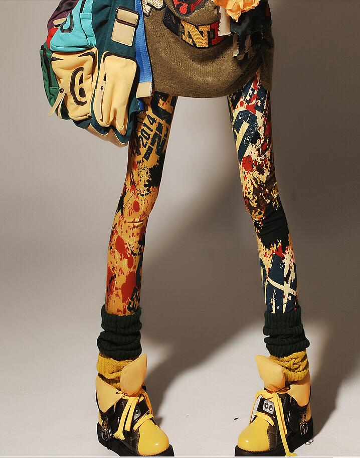 Colorful Women leggins 3D Digital Starry Scrawl Stars Print Leggings for Teeny-bopper Girls Leopard Leggings New Drop Shipping(China (Mainland))