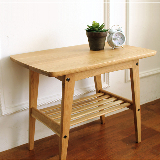 Japanese Style Furniture Simple Solid Wood Tea Table Side Table White Oak Wooden Furniture In