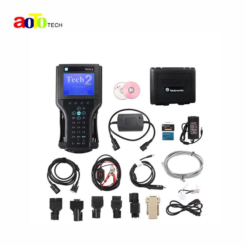 2016 Latest version G-M TECH2 scanner 6 software For G-M OPEL SAAB ISUZU SUZUKI HOLDEN Full set tech 2 With black plastic box(China (Mainland))