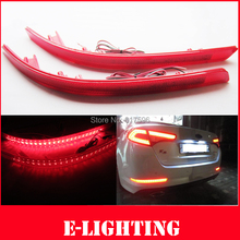 Red Lens 30-SMD LED Rear Bumper Reflector Light For 2011 2012 2013 Kia Optima K5(China (Mainland))