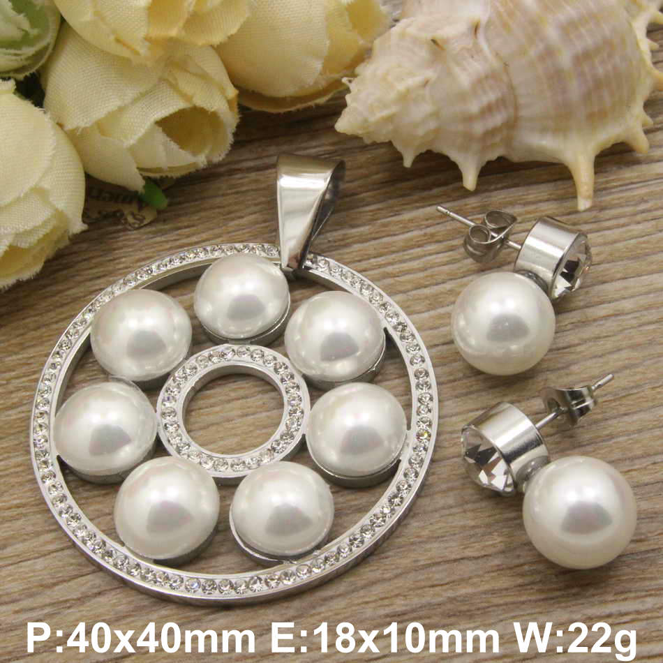 Hot new stainless steel jewelry gold color and silver color Pendant Earrings sets for women and girl SBJDXADG(China (Mainland))