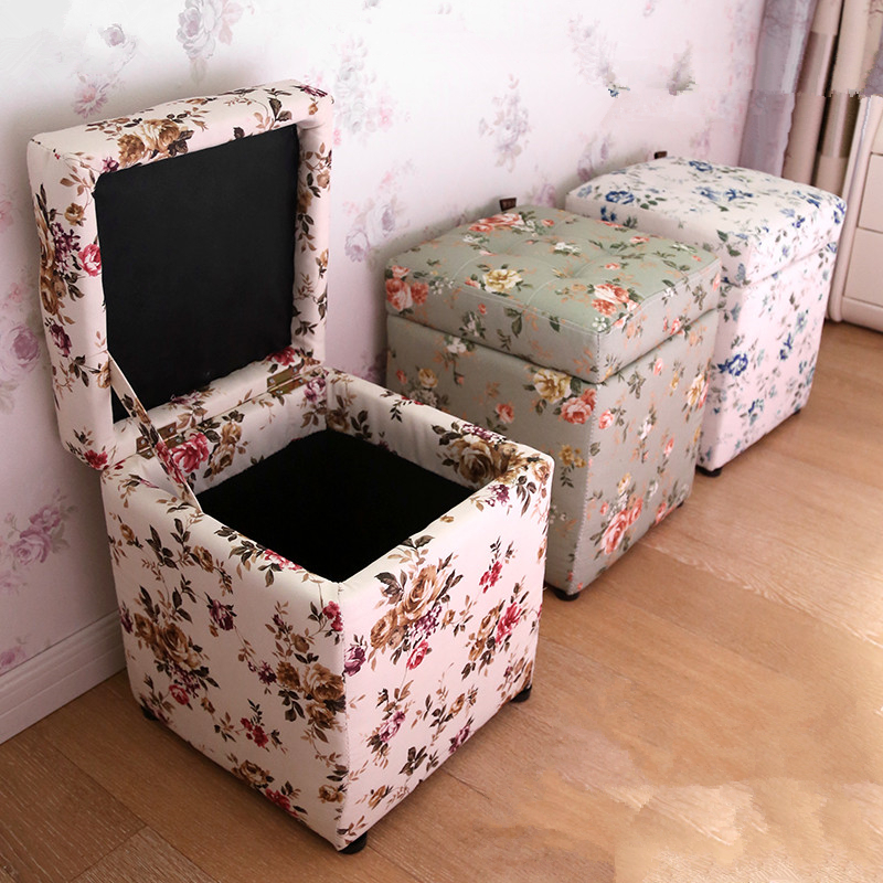 Wonderland Vintage Pastoral Floral Wood Stool Storage Ottoman Home Furniture  Living Room Bedroom European Style for Table S 12. Search on Aliexpress com by image