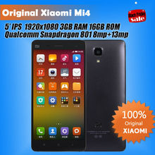 "Origine Quad Core Xiaomi Mi4 M4 / Mi4 4 G version téléphone 5 "" Qualcomm Snapdragon 801 1920 X 1080 P JDI 3 GB RAM 16 GB 64 GB ROM 8MP 13MP(China (Mainland))"