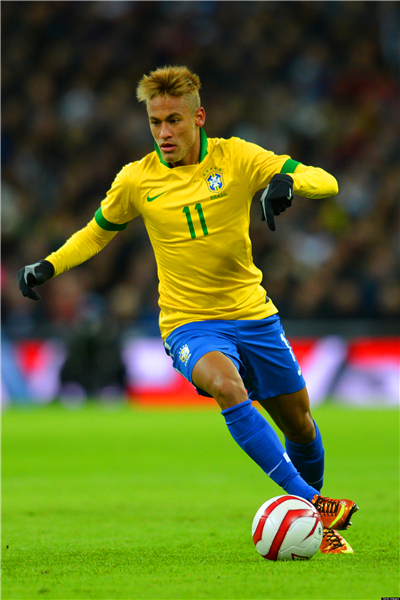 Neymar Poster Neymar JR Posters World Cup Wall Sticker Soccer Ball Wallpapers Canvas Prints Barcelona Football Stickers #2125#(China (Mainland))