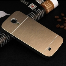 Luxury metal brushed aluminum alloy case hard plastic back mobile phone cover for samsung galaxy S3 mini i8190 & S4 mini i9190