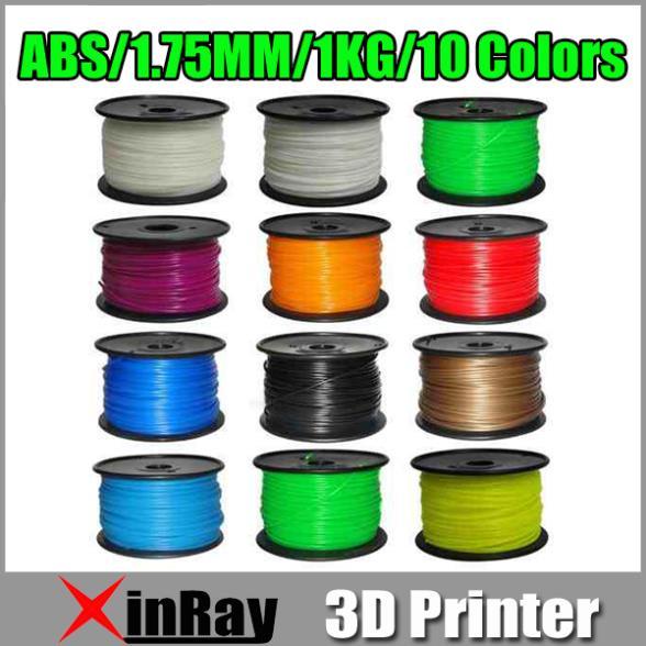 1.75mm ABS Filament 1kg/2.2lb 3D Printers Reprap, 3D Print Maker Freeshipping<br><br>Aliexpress