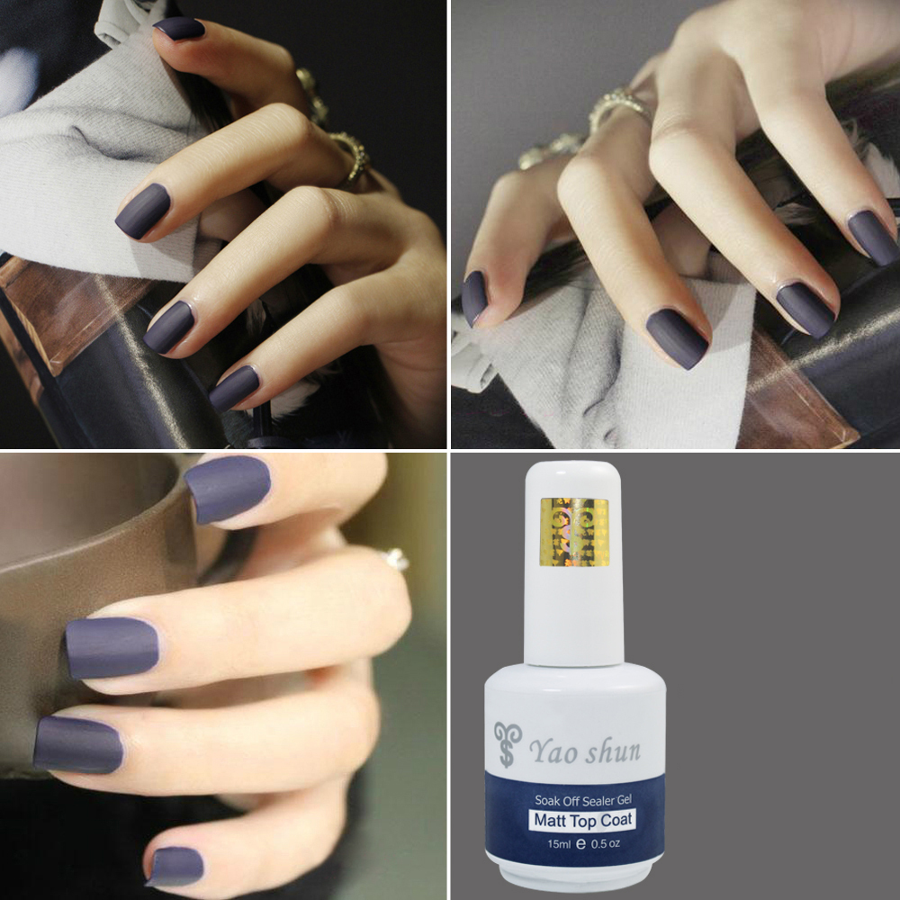 Yaoshun 15ml Magic Super Matte Top Coat Hot Sale UV Soak Off Transfiguration Nail Art Frosted Surface Oil Nail Gel Polish<br><br>Aliexpress