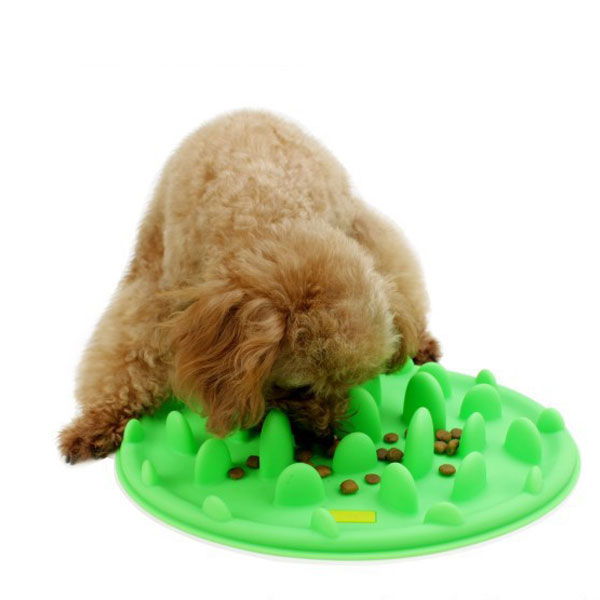 Silicone Anti Choke Interactive Slow Feeding Bowl For Dog Cat Pet Cute Promote Digestion Travel Health(China (Mainland))