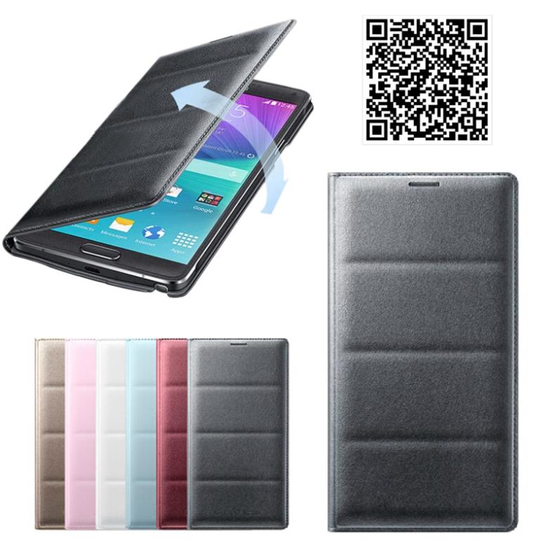 OnfineFor Samsung Galaxy Note 4 Flip Leather Cover Case Skin Dimensional Code Free shipping&Wholesale(China (Mainland))