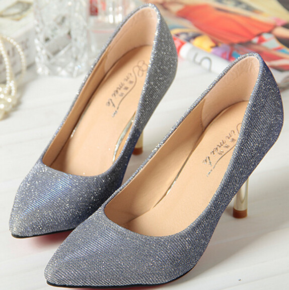 Shoes Women New Arrive 2015 Woman Pumps High Heels Shoes Fashion Glitter Girl Party Dress Shoes Sexy Office Ladies Pumps Female