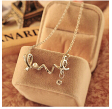 Fashion Sea Green Rabbit Control Over Drilling Cute Bunny Crystal Clavicle Pendants Choker Necklaces Collar Jewelry