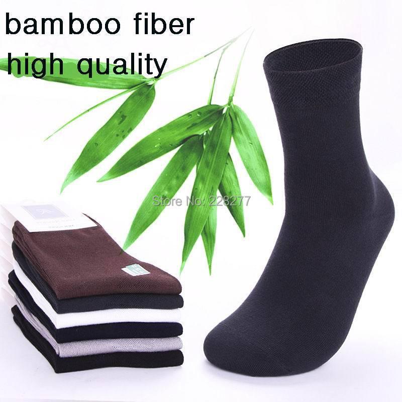 Free Shipping 10 pairs/lot Cotton Bamboo Fiber Classic Business casual men's Socks man sox gentlemen high quality male sock(China (Mainland))