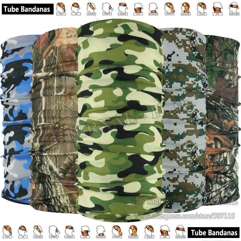 Classical Military Camo Outdoor Scarf Multifunctional Headwears Forest Hunting Woodland Camouflage Magic Seamless Tubes Bandana(China (Mainland))