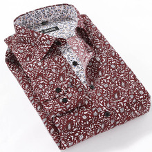 Fashion Design 2016 Printed Polka Dot Men Casual Shirts American Style Long Sleeve Business Dress Men Shirts Camisa Masculina(China (Mainland))