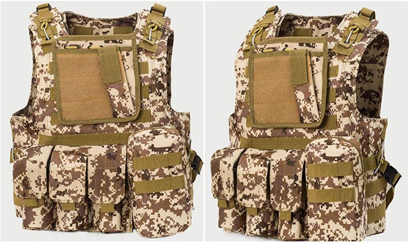 Tactical vest USMC Airsoft Tactical Military Molle Combat Assault Plate Carrier Vest 13 Colors CS clothing Professional sales(China (Mainland))