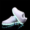 2016 Children LED Shoes Boys Girls Luminous Sneakers 7 Color Light Kids Shoes USB Charger Chaussure