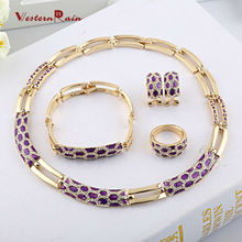 WesternRain 2015 Wedding Accessories UK Gold Plated Jewellery Floating Charms Wholesale Vogue Woman Costume African Jewelry Sets(China (Mainland))