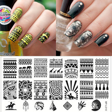Aztec Pattern Nail Art Stamp Template Image Plate BORN PRETTY BP-L010 12.5 x 6.5cm